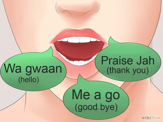 how to speak rastafarian language