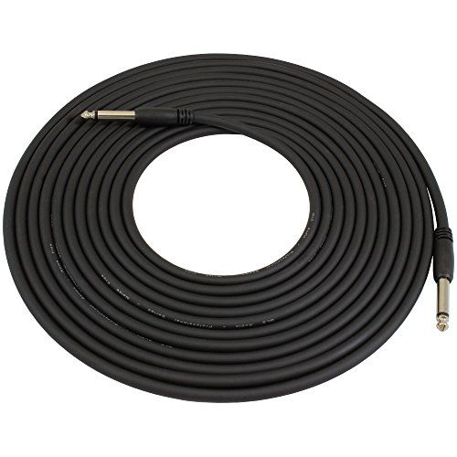 Gls Audio 20 Foot Guitar Instrument Cable Slimgrip Series 14 Inch Ts To 14 Inch Ts Black Rubber Molded Patch Cable 20 Feet Pr Guitar Cable Guitar Instruments