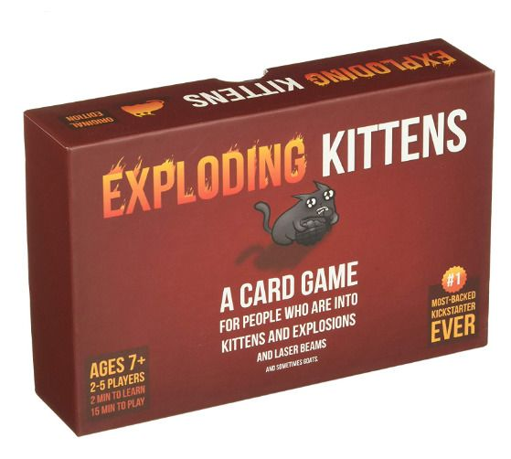 Exploding Kittens Card Game Original Imploding Kitten Party Board Game Usa Stock Explodingkittens Exploding Kittens Card Game Exploding Kittens Card Games
