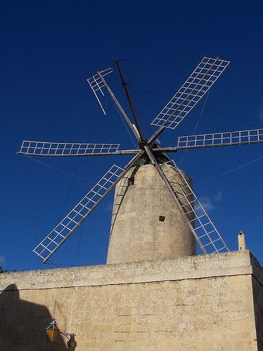 Ta' Kola is one of Malta's few remaining windmills; for centuries, the ability to mill grain was hugely important to the islands. Malta and Gozo: the Bradt Guide www.bradtguides.com