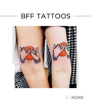 33 Amazing Matching Tattoos to Get With Your Best Friend | Bff ...