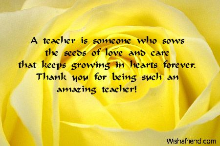 Thank You Notes For Teacher  Meaningful    Teacher