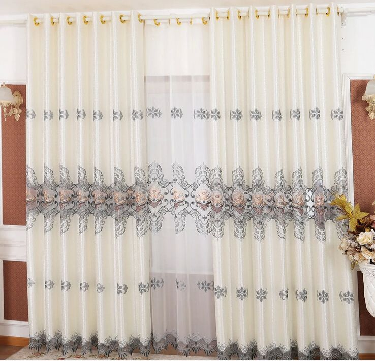 Modern 2015 New Living Room Curtains With Lace Design Curtains