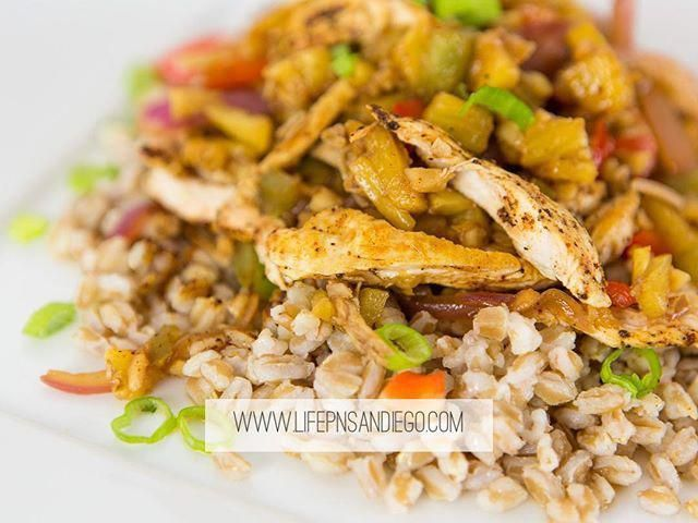 Sweet & Spicy Pineapple Chicken. Check out our website  and get your orders in by tonight before 11:30PM. No shopping, no prepping, no cleaning. Healthy meals delivered to you! .
