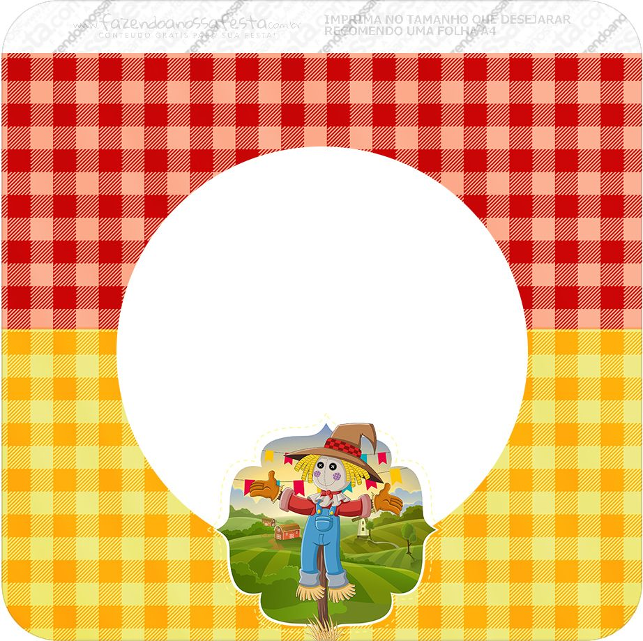 Kit Festa Junina Vermelho E Amarelo Gratis Para Imprimir Festa
