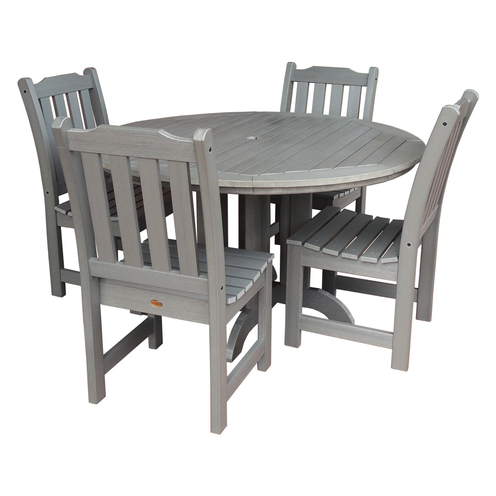 Highwood Patio Furniture.Outdoor Highwood Lehigh Recycled Plastic 5 Piece Round Patio Dining