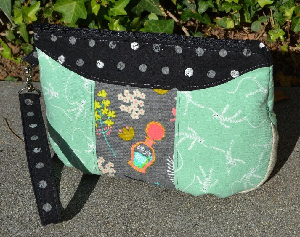 Free Blue Calla Sewing Pattern for Gerbera Wristlet Clutch | Happy ...