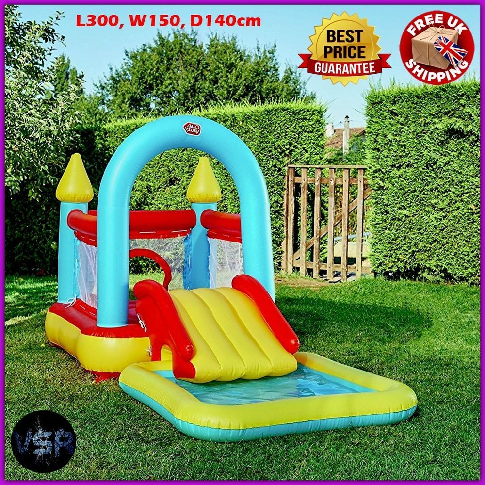 Kids Bouncy Castle Inflatable Pool Slide Play Centre Outdoor Baby Toys Park Fun Kids Bouncy Castle Outdoor Baby Toys Inflatable Pool