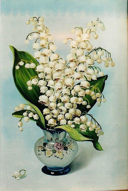 рисунки ландыши в вазе взрослых деревьев