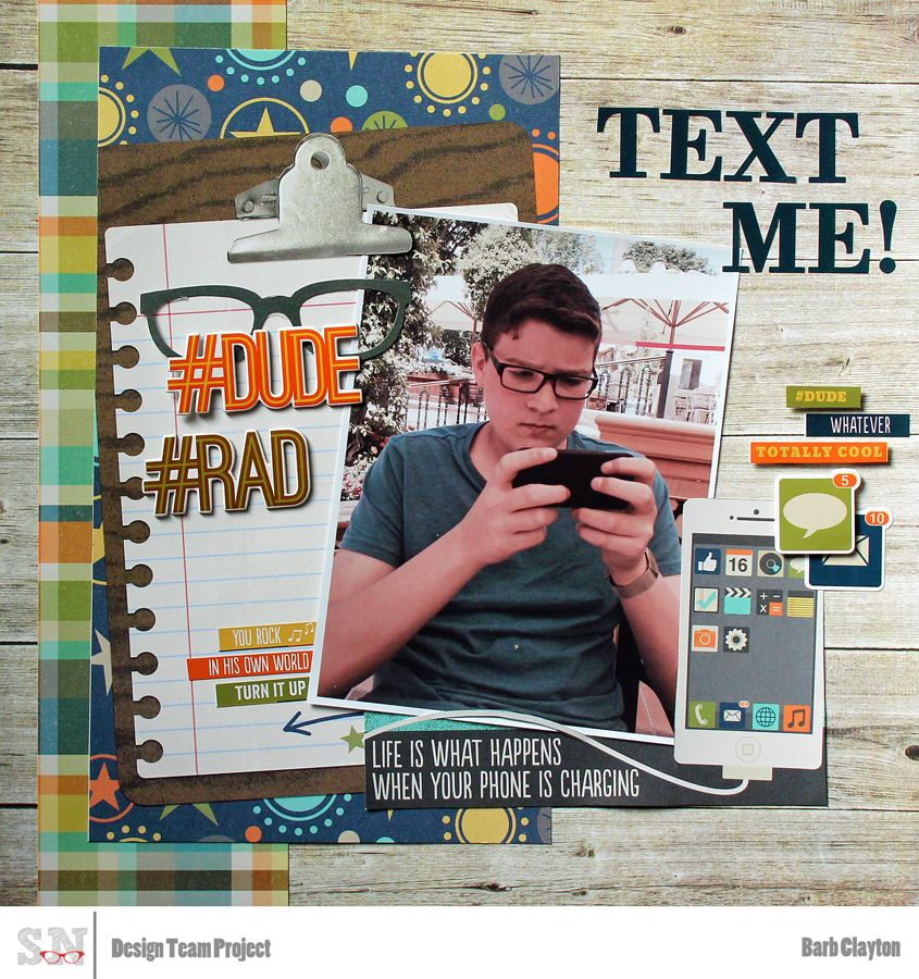 Scrapbook Nerd What a great teen layout using the