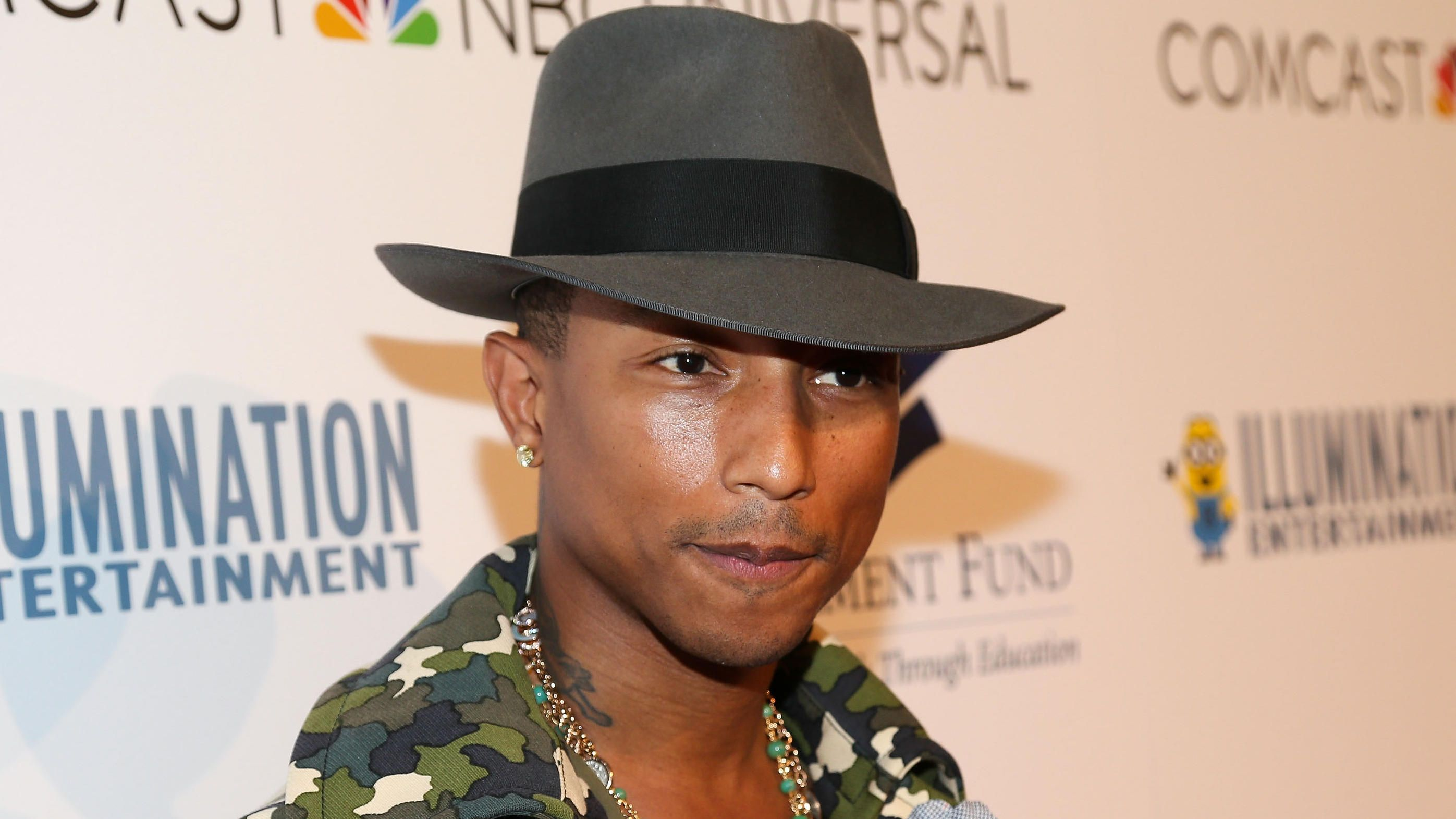 The Fedora  Pharrell Williams wearing a charcoal felt fedora with a black  grosgrain band.  RaceWear  BunburyCup  NinasJewellery afe3c5aabef