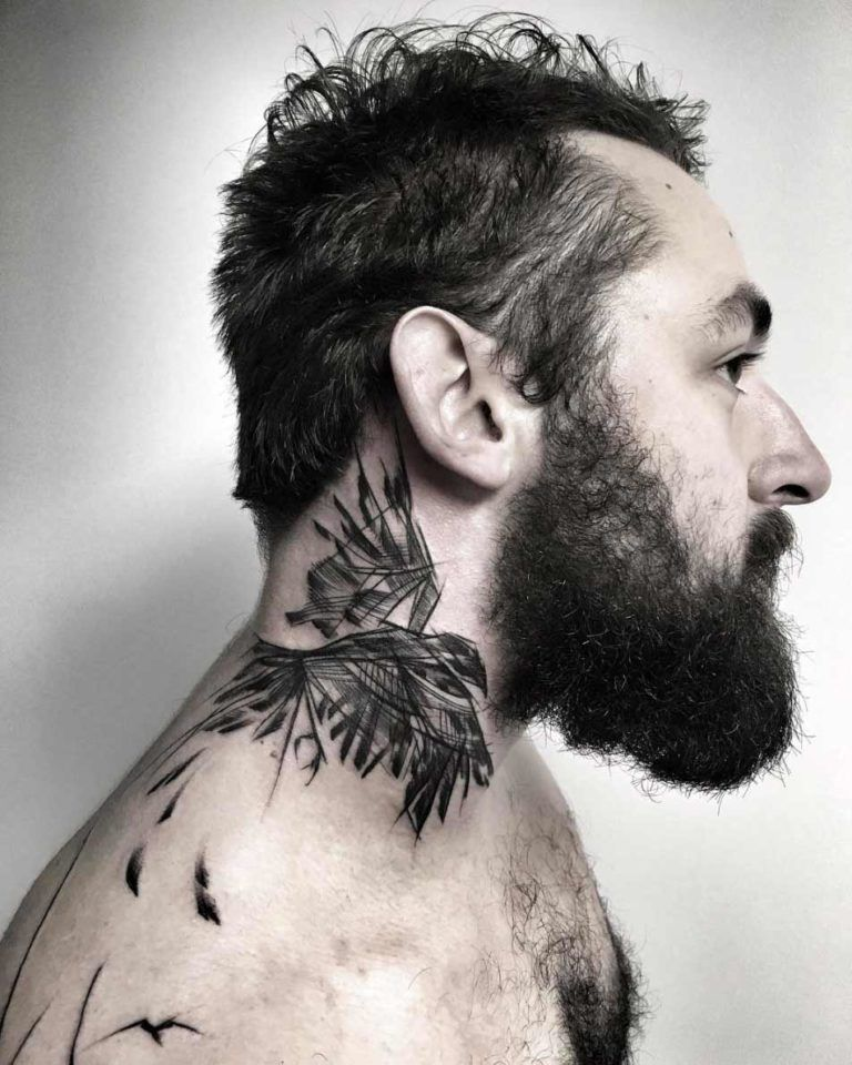 25 Neck Tattoos Which Are Classy And Unique Vogueitude In 2020 Tattoos For Guys Neck Tattoo For Guys Neck Tattoo