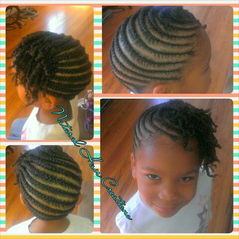 Baby Updo Style Cornrows Twists Kids Natural Hair Natural Hair