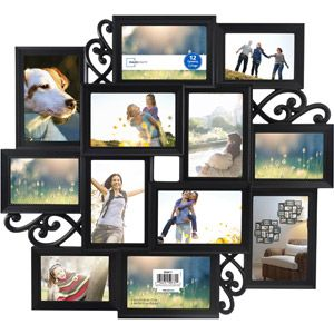 Walmart Mainstays Telly 12 Opening Collage Frame Black Collage Frames Frame Mainstays