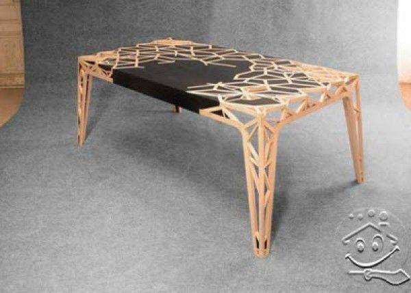 Bureau « CAPTAINu0027S WORD IS LAW ». Wood Table DesignWooden TablesModern ...