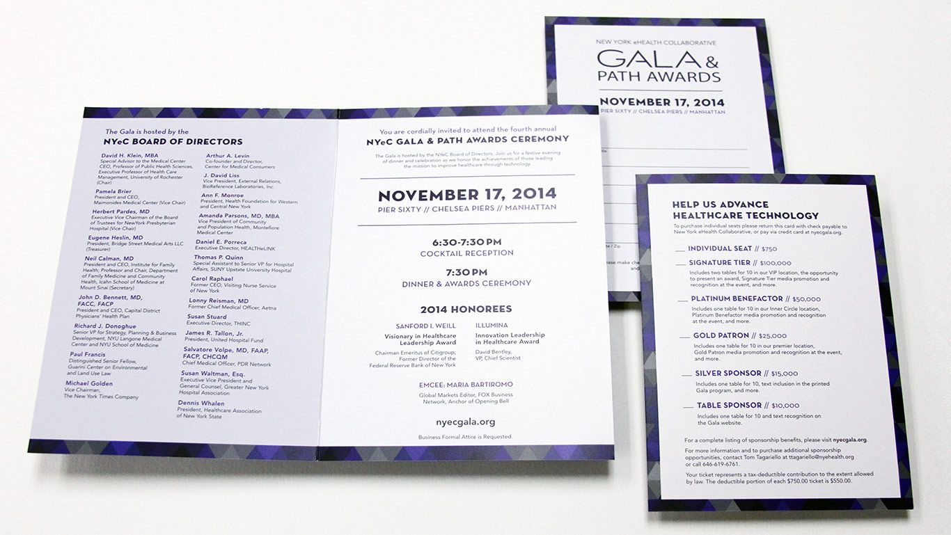 not for profit healthcare gala invitation design event program