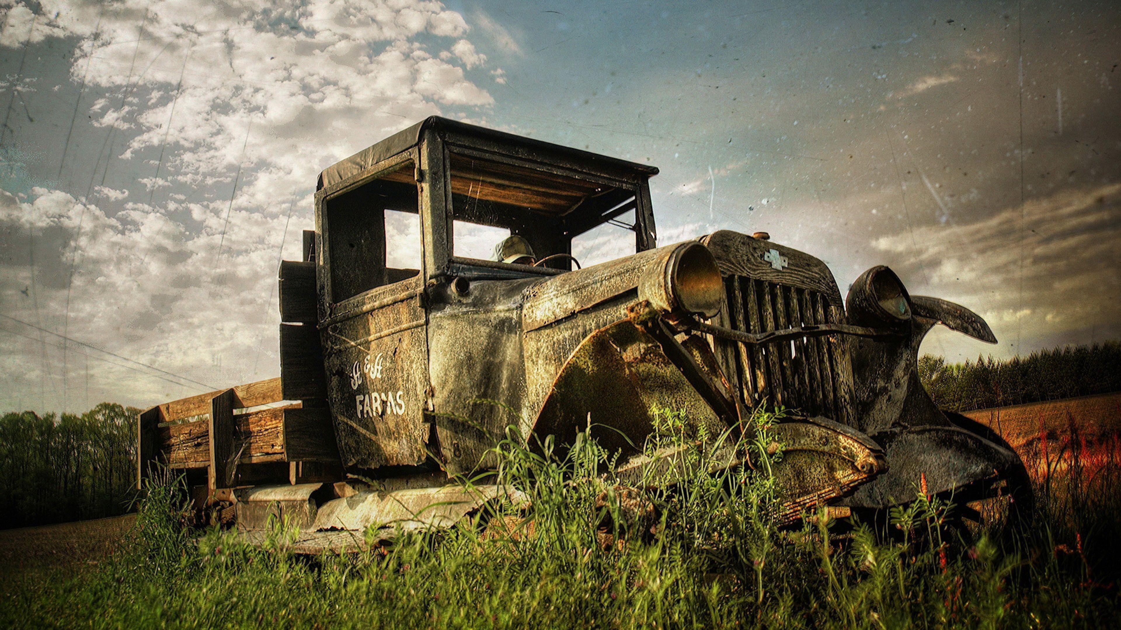 4k Truck Wallpaper Ultra Hd Coches Abandonados Autos Fotos