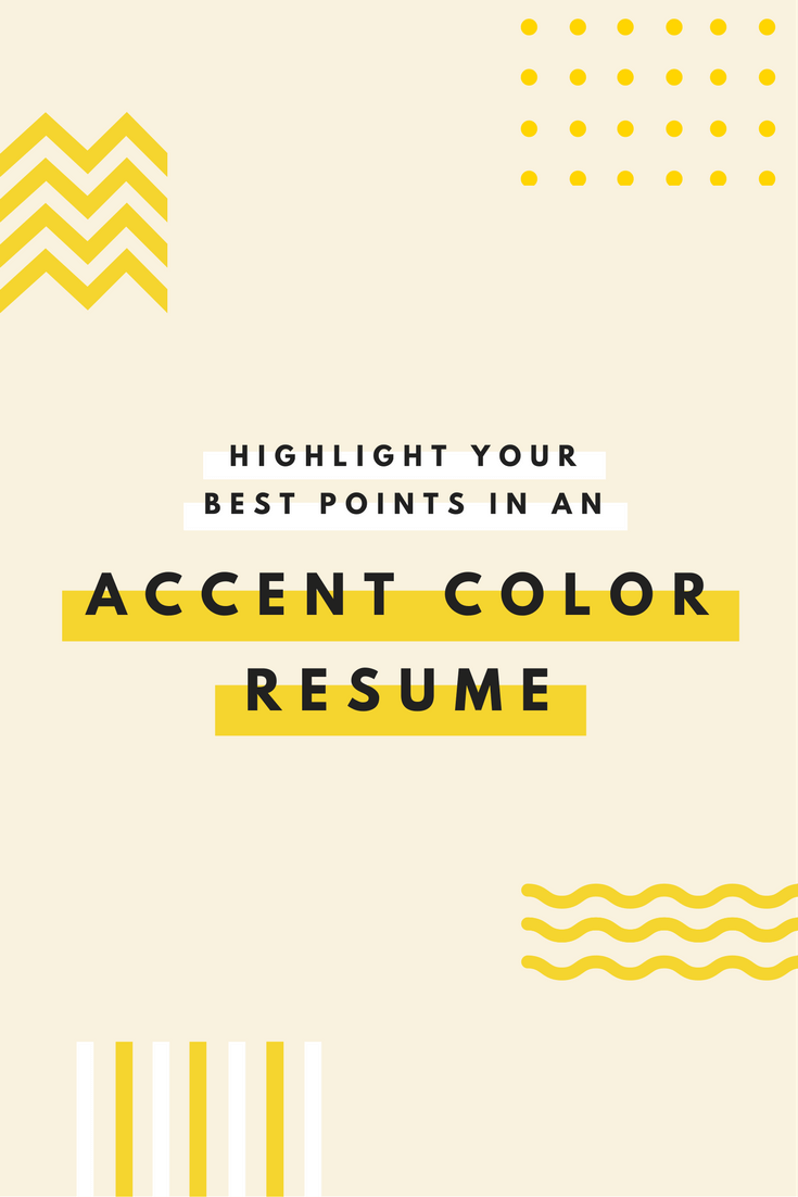 Emphasize career highlights on your resume by using color ...