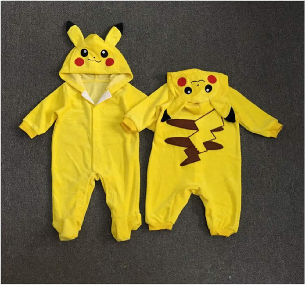 new children halloween costume/pikachu outfit long sleeve infant