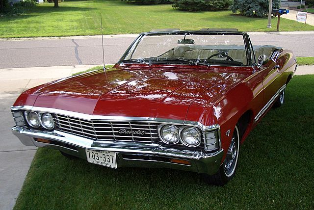 1967 Red Chevrolet Impala Convertible Chevrolet Impala