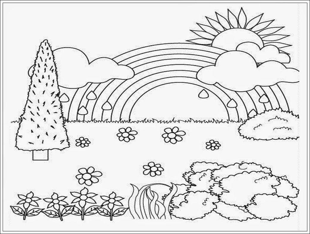 Coloring Pages Pemandangan