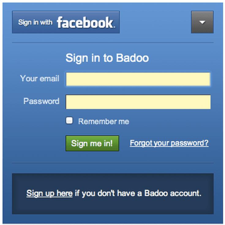 Badoo facebook chat