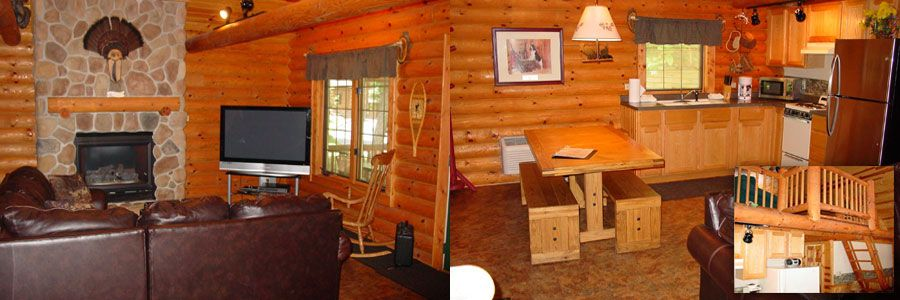 Log cabin rentals in the wisconsin dells at cedar lodge for Cheap cabins in wisconsin dells