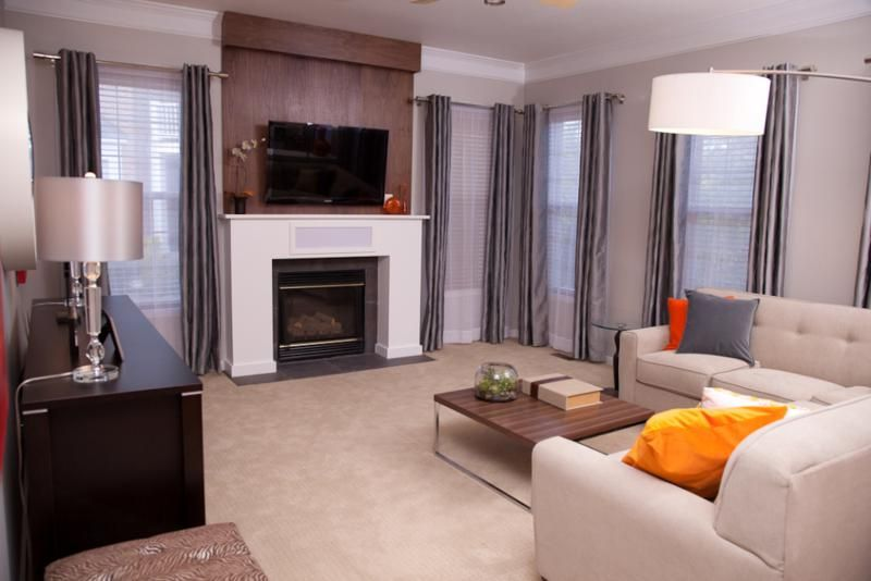 Design On A Dime Living Room Ideas Living Room With Fireplace