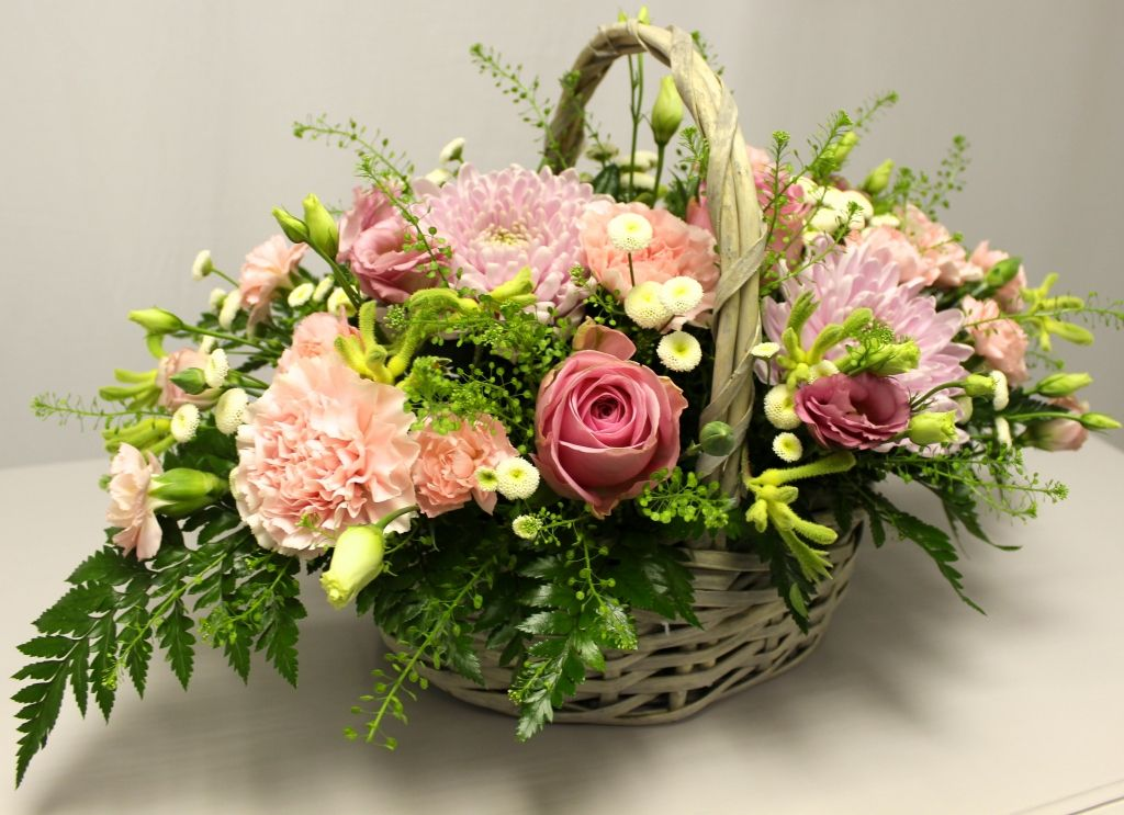 how to draw a beautiful flower basket