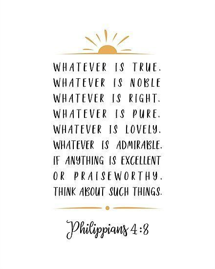 'Phillipians 4:8' Photographic Print by MentDesigns -   19 beauty Quotes bible ideas