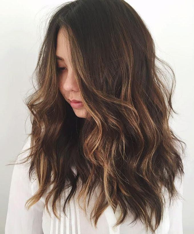 Hot Wavy Brunette Highlights 2017 Hair Style 2017 Pinterest