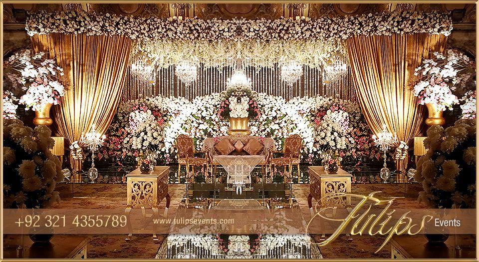 Tulips event , Best Pakistani wedding stage decoration