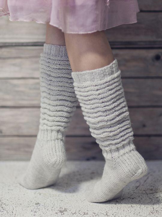 Lapsen pitkävartiset villasukat Novita 7 Veljestä