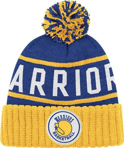 173c4e9f8d9186 Golden State Warriors Vintage Cuffed Pom Knit Cap / Beanie -  http://bignbastore