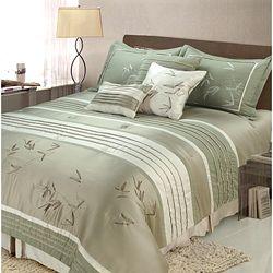 green king size comforter sets Sansai 7 piece King size Comforter Set | Overstock.Shopping  green king size comforter sets