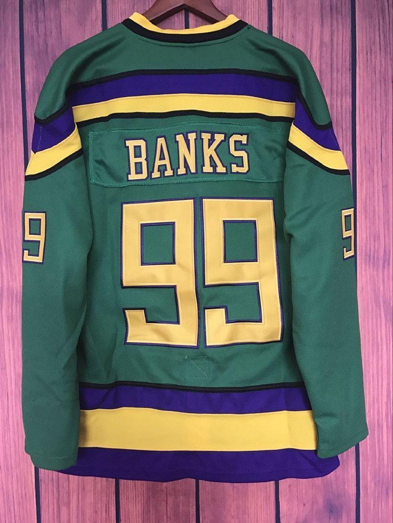 Ej mighty ducks movie jersey 99 adam banks hockey jersey