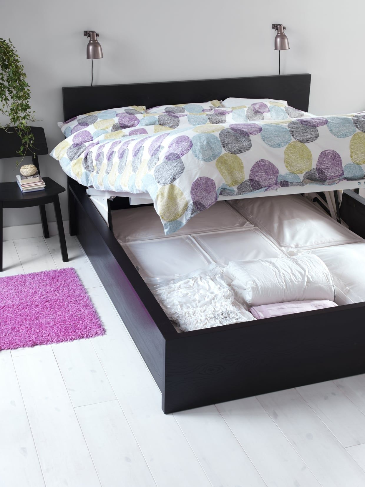The Malm Storage Bed Gives You Extra E For Clothes Shoes And Bedding Makes It Easy To Access Too All Have Do Is Lift Up