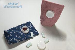 Kaugummitäschchen aus beschichteter Baumwolle nähen #textilepatterns