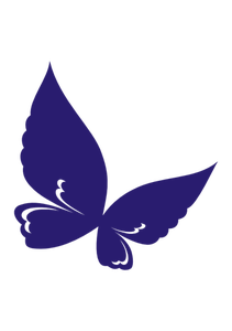 PublicDomainVectors.org-Vector graphics of butterfly flying. Purple abstract clip art of insect.