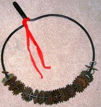 The Hmong shaman's txiab neeb (pronounced