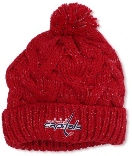 228c2550f67 ... italy nhl washington capitals womens cuffed knit hat with pom one size red  adidas. 1f7e4