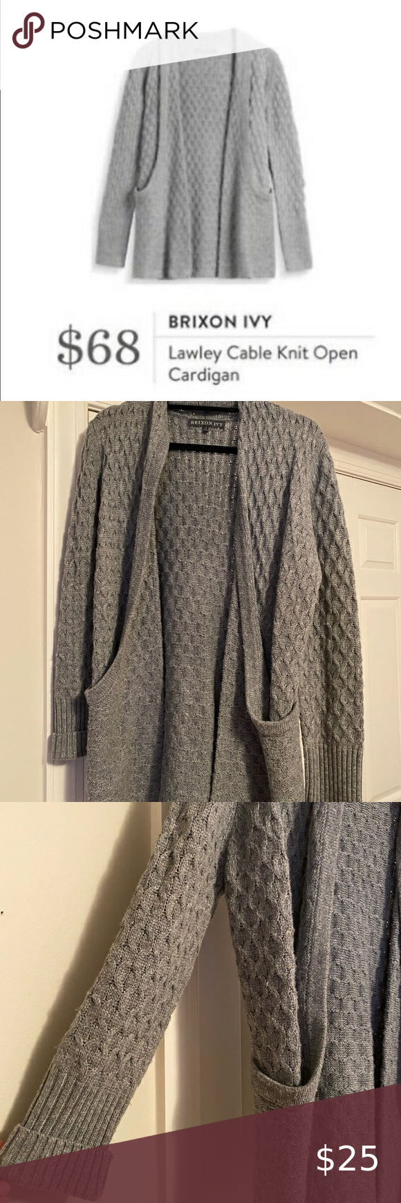 Brixon Ivy Gray Lawley Open Cardigan sweater in 2020 | Open