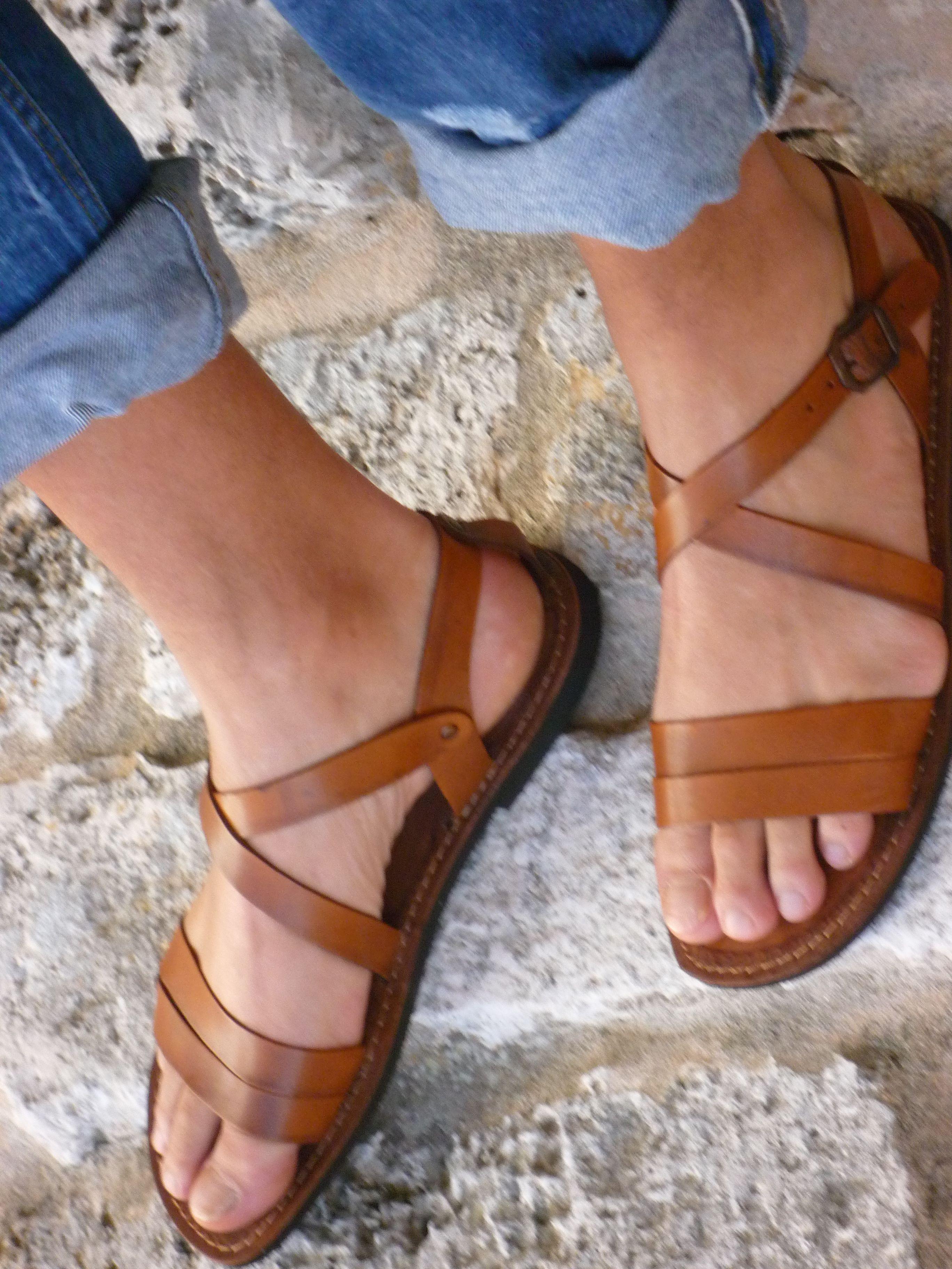 b8423e0758d6 Mens Leather Sandals