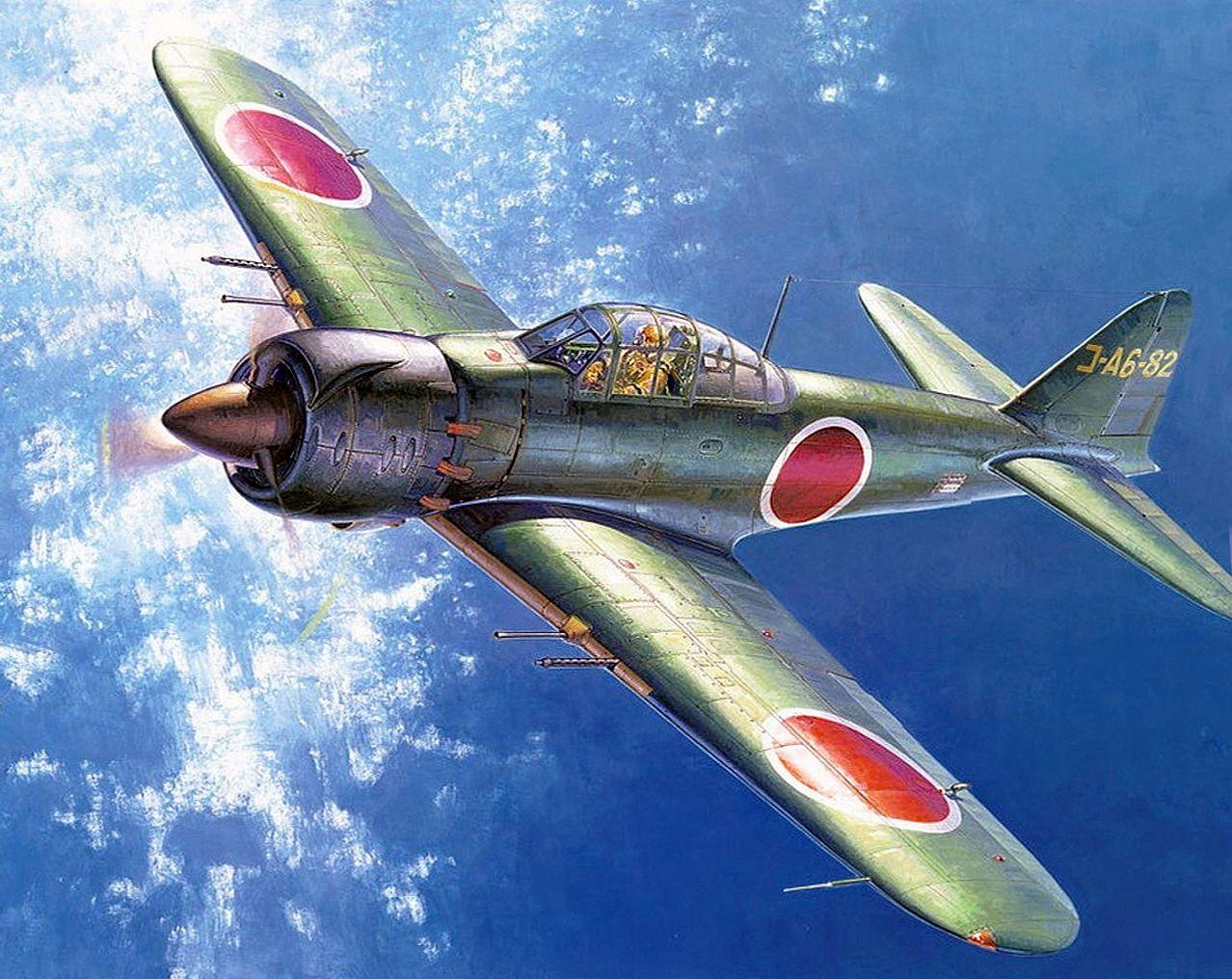 Mitsubishi A6M8 Zero by Shigeo Koike