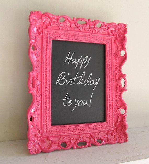 Pizarra con marco | Birthday \'Happy\' | Pinterest | Pizarra, Marcos y ...