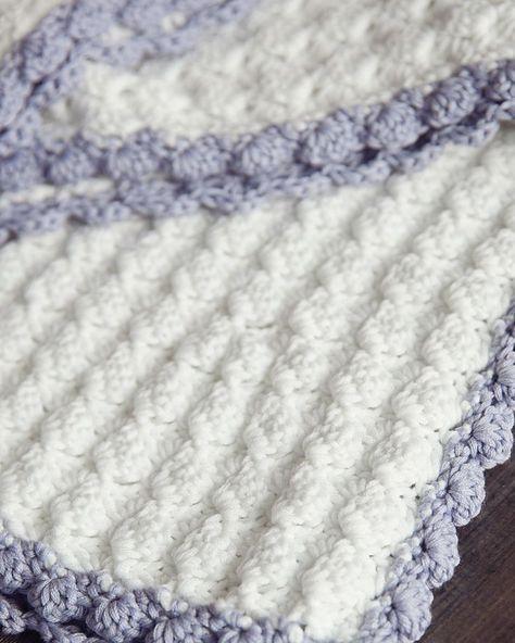 Vintage Chic Free Crochet Baby Blanket Pattern | crochet | Pinterest