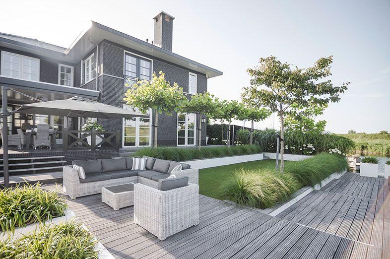 Buytengewoon villatuinen stijlvolle villatuin met