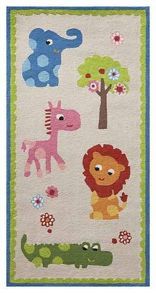 Kinder-Teppich, Esprit, »Zoo«, handgetuftet   Zoos und PS