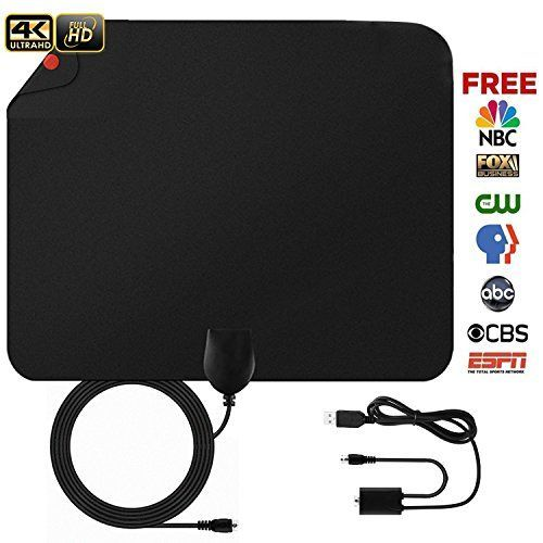 zu hause ohne geräte Paper Thin HD Digital TV Antenna Blimark Portable Indoor Television Antenna with Amplifier Receiving Up to 5090 Miles Long Range 1080P 4K TV Cha...