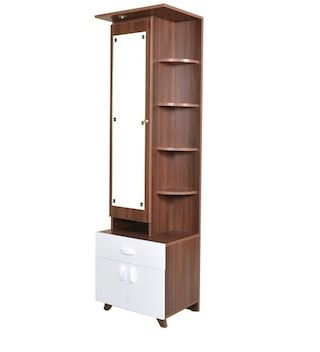 Buy Astron Dressing Table In Walnut White Finish By Crystal Furnitech Online Dressers Tables Furniture Pepperfry Product Fine Bedroom Furniture Furniture Tall Cabinet Storage